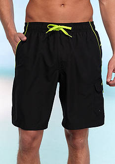 speedo 9in Marina Solid Cargo Swim Trunks