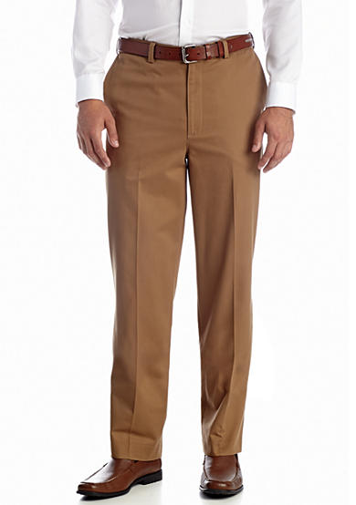 Savane® Straight-Fit Flat-Front Comfort Waist Chino Pants