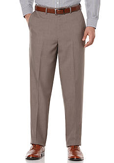 Savane® Striated Herringbone Non-Iron Comfort Waist Pants