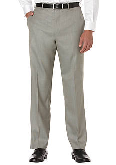 Savane® Big & Tall Straight-Fit Sharkskin Flat-Front Non-Iron Dress Pants