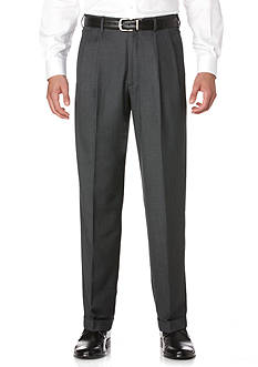 Savane Big & Tall Straight-Fit Pleated Wrinkle-Resistant Dress Pants