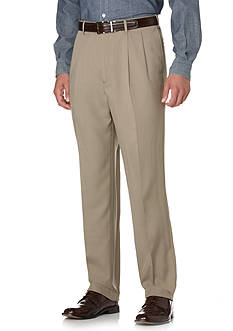 Savane® Big & Tall Straight-Fit Pleated Wrinkle-Resistant Dress Pants