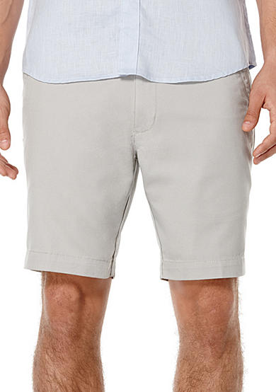 Savane® Eco-Start® 8 Twill Flat Front Shorts