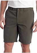 Savane® 9.5-in. Straight-Fit Flat-Front Shorts