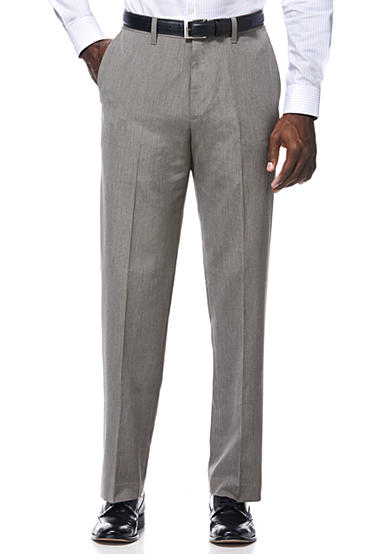 Savane® Travel Intelligence Classic Fit Taupe Pinstripe Suit Separate Pants