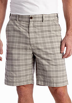 Savane® 9-in. Straight-Fit Flat-Front Grid Plaid Shorts