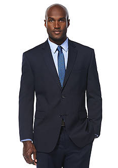 Savane® Classic Fit Travel Intelligence Navy Pinstripe Suit Separate Jacket
