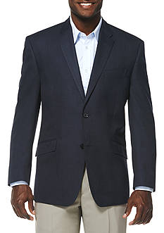 Savane® Travel Intelligence Classic Fit Navy Heather Blazer