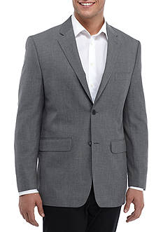 Savane Classic Fit Travel Intelligence Sharkskin Suit Separate Coat