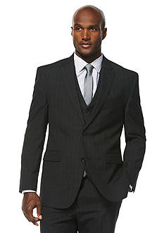 Savane® Travel Intelligence Classic Fit Charcoal Shadow Plaid Suit Separate Jacket