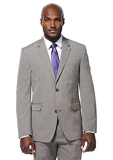 Savane® Travel Intelligence Classic Fit Taupe Pinstripe Suit Separate Jacket