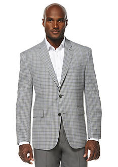 Savane® Travel Intelligence Classic Fit Multi Color Micro Check Sport Jacket