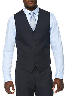 Savane® Travel Intelligence Navy Houndstooth Classic Fit Suit Separate Vest
