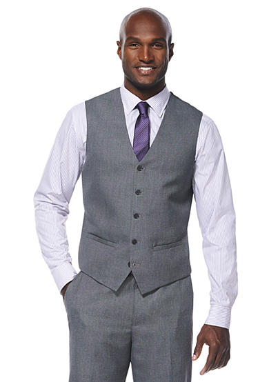 Savane® Travel Intelligence Classic Fit Grey Sharkskin Suit Separate Vest