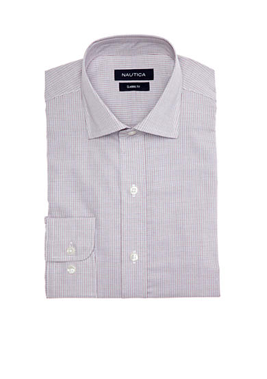 Nautica Mini Plaid Dress Shirt