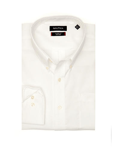 Nautica Big & Tall Non Iron Solid Twill Dress Shirt