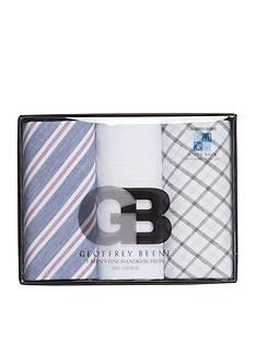 Imperial Star 3-Piece Geoffrey Beene Handkerchief Set