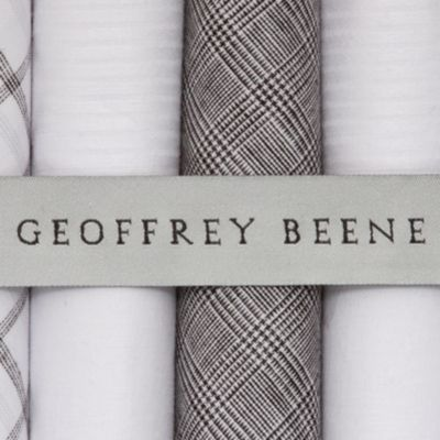 Guys Accessories: Mid Grey Geoffrey Beene 5-Pack Handkerchief