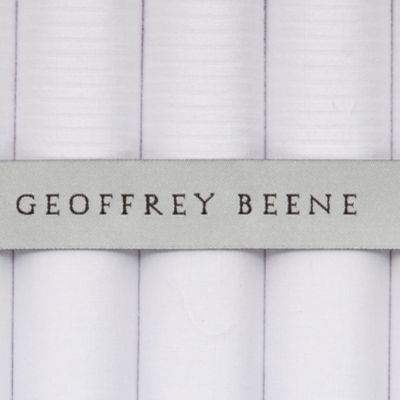 Guys Accessories: White Geoffrey Beene 5-Pack Handkerchief
