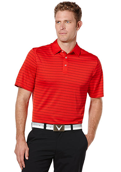 Callaway® Golf Razr Mesh Stripe Short Sleeve Performance Polo