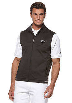 Callaway® Golf Golf Performance Full Zip Microweight Short Sleeve Fleece Vest