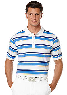 Callaway® Golf Performance Multi-Colored Roadmap-Striped Short Sleeve Polo