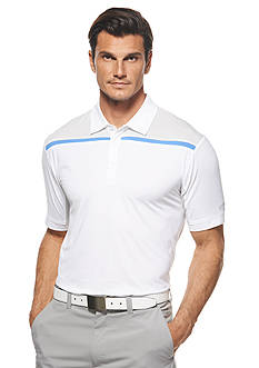 Callaway® Golf Performance Printed Mesh Paneling Short Sleeve Polo Shirt