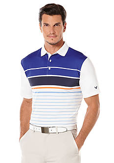 Callaway® Golf English Chest Stripe Fashion Polo Shirt
