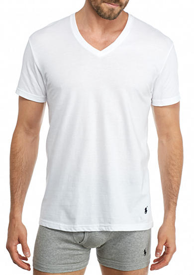 Polo Ralph Lauren Classic V-Neck T-Shirts - 4 Pack