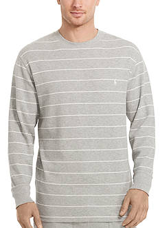 Polo Ralph Lauren Big & Tall Thermal Stripe Crew Neck Shirt