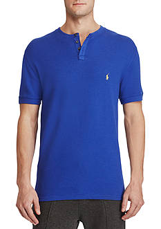 Polo Ralph Lauren Waffle-Knit Henley Sleep Shirt