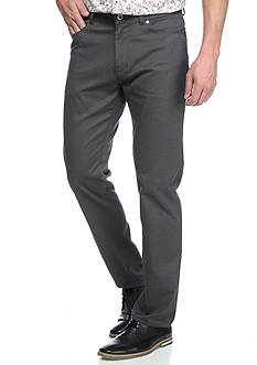 Calvin Klein Slim Fit 5-Pocket Herringbone Tweed Pants
