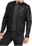Calvin Klein Faux Leather Perforated Jacket