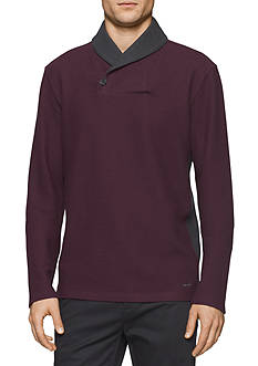 Calvin Klein Long Sleeve Color Block Shirt