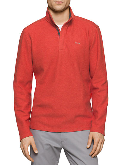 Calvin Klein Mock Neck Quarter Zip Sweater