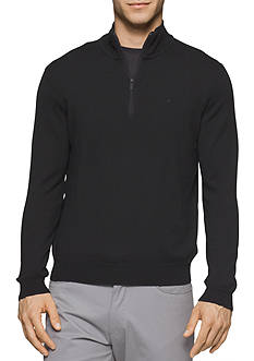 Calvin Klein Mock Neck Merino Quarter Zip Sweater