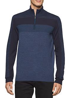 Calvin Klein Mock Neck Merino Quarter Zip Sweater