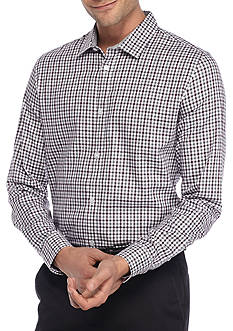 Calvin Klein Long Sleeve Herringbone Gingham Button Down Shirt