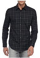 Calvin Klein Long Sleeve Herringbone Windowpane
