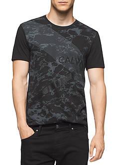 Calvin Klein Men's Short Sleeve Camo Logo Tee