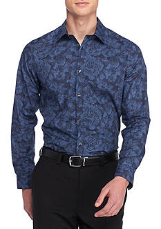 Calvin Klein Long Sleeve Pixilated Floral Shirt
