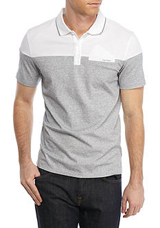 Calvin Klein Short Sleeve Feeder Stripe Jersey Polo Shirt