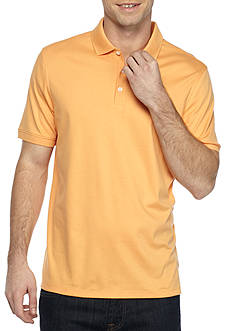 Calvin Klein Short Sleeve Interlock Liquid Cotton Polo Shirt