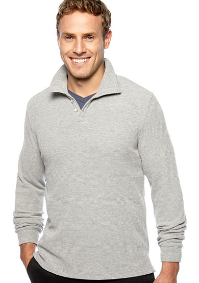 Calvin Klein Four-Button Thermal Polo Knit