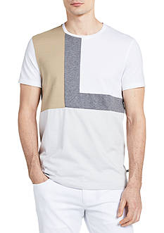 Calvin Klein Short Sleeve Colorblocked Jersey Crew Neck