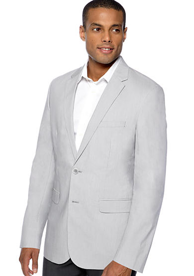 Calvin Klein Two-Button Micro Stripe Jacket
