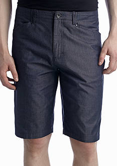 Calvin Klein 11-in. Regular-Fit Flat-Front Chambray Shorts