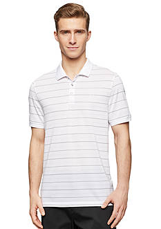 Calvin Klein Regular-Fit Short Sleeve Fine Stripe Pique Polo Shirt