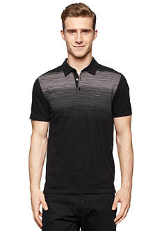 Calvin Klein Slim-Fit Short Sleeve Printed Slub Polo Shirt