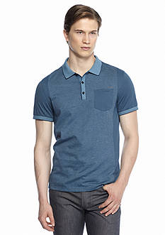 Calvin Klein Short Sleeve Blocked Jacquard Polo Shirt